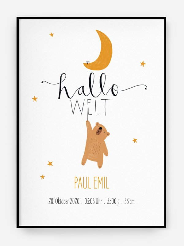 Poster Geburt Lovely Lullaby