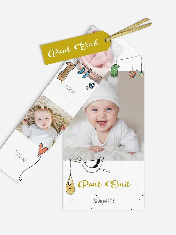 Geburtskarte Unsere kleine Welt