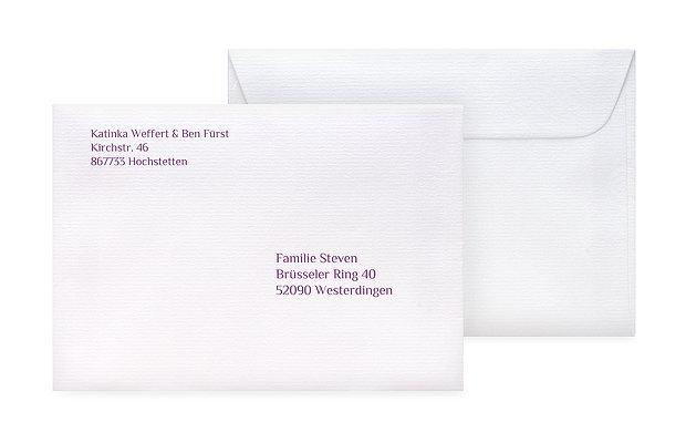 Briefumschlag Beschriften Für Das Brautpaar : Briefumschlag bedruckt quot bildreich