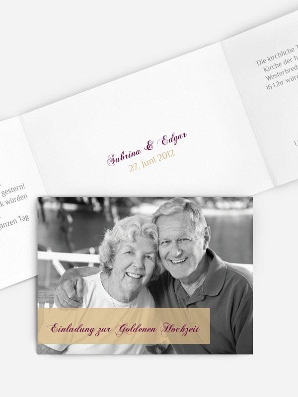 Einladung zur Goldenen Hochzeit Bildreich