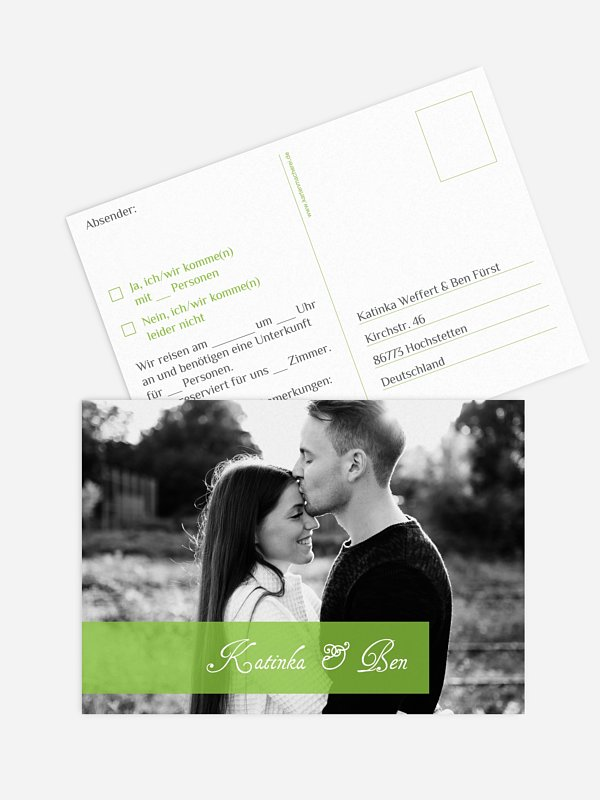 Antwortkarte Hochzeit Bildreich