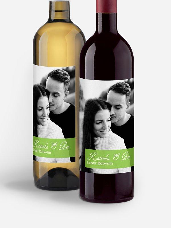 Flaschenetikett Hochzeit Bildreich