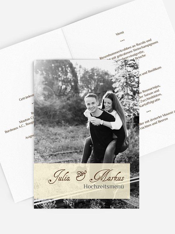 Menükarte Hochzeit Bildreich