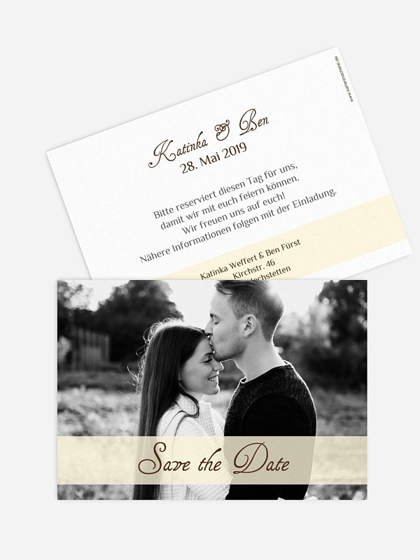 Save-the-Date Karte Bildreich