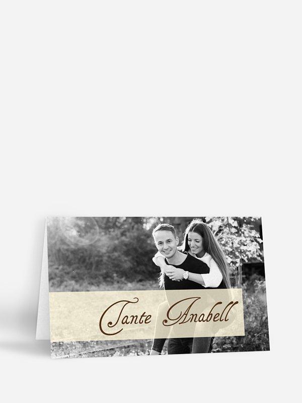Tischkarte Hochzeit Bildreich