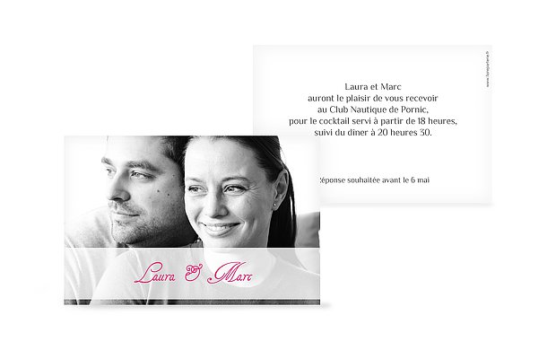 Carton d'invitation Imagé