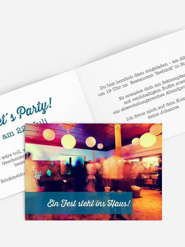 Partyeinladung Bildreich