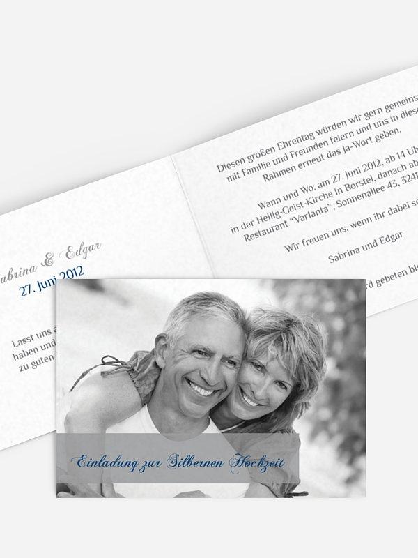 Einladung zur Silberhochzeit Bildreich