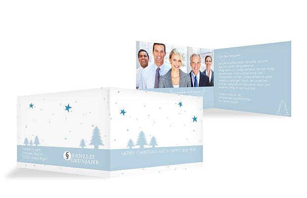 Geschäftliche Weihnachtskarte Winterlandschaft