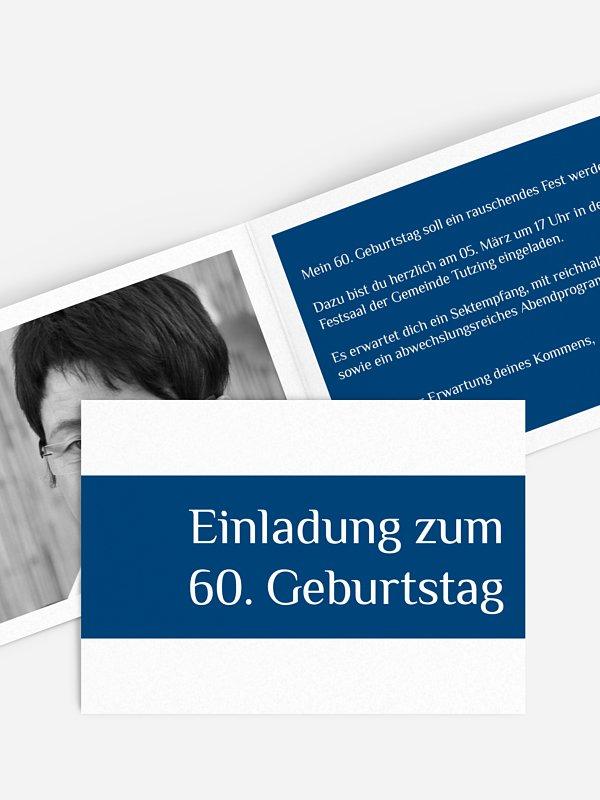 Einladung 60. Geburtstag Farbklar