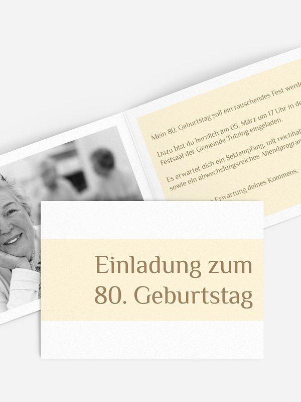 Einladung 80. Geburtstag Farbklar