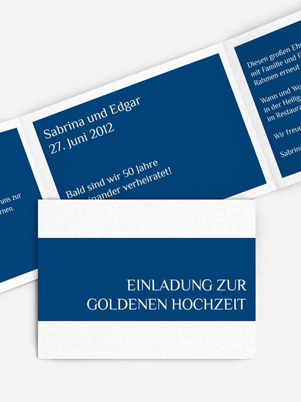 Einladung zur Goldenen Hochzeit Farbklar