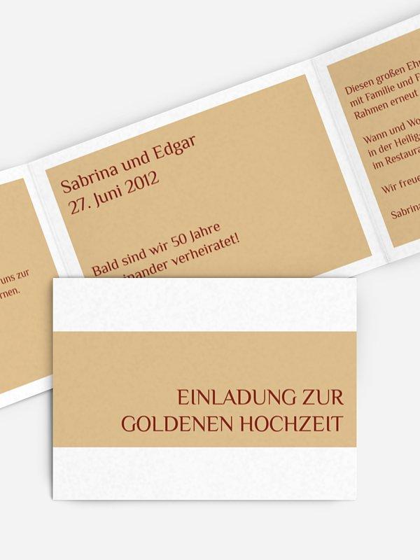 Einladung Goldene Hochzeit Farbklar