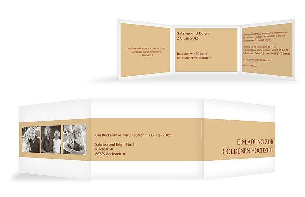 """einladung goldene hochzeit """"farbklar"""", Einladungen"""
