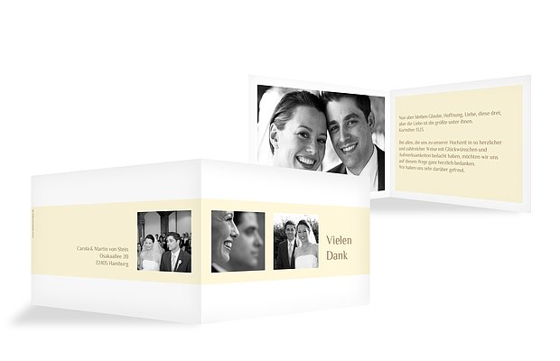 Dankeskarte Hochzeit Farbklar