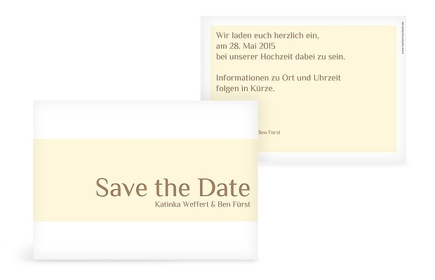 "Save-the-Date Karte ""Farbklar"""