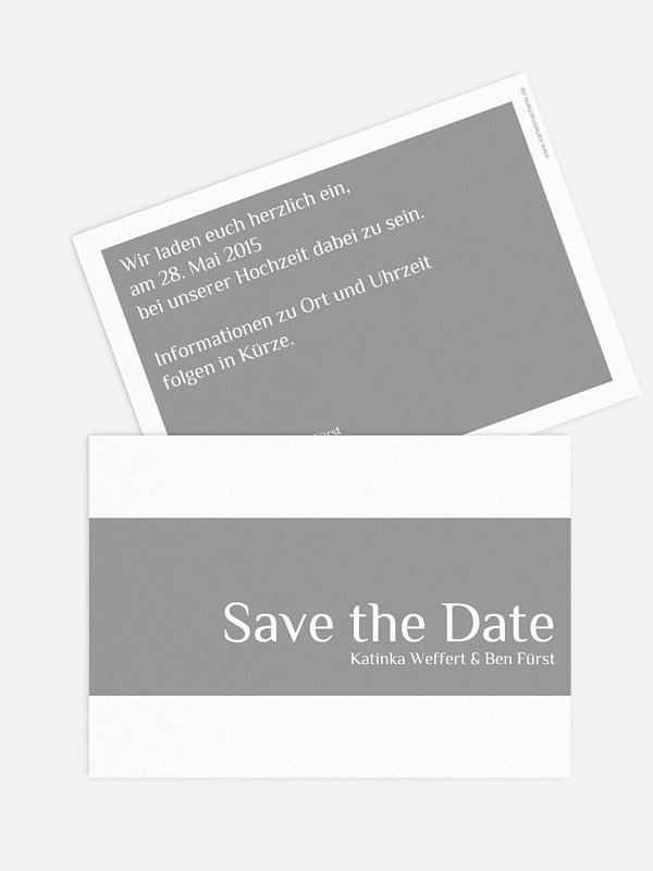 Save-the-Date Karte Farbklar