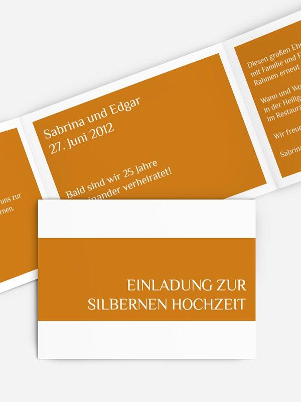 Einladung zur Silberhochzeit Farbklar