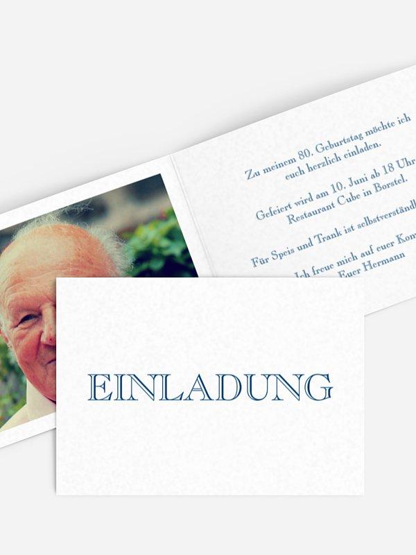 Einladung 80. Geburtstag Schriftlich