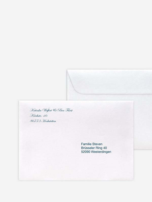 Briefumschlag Bedruckt Schriftlich