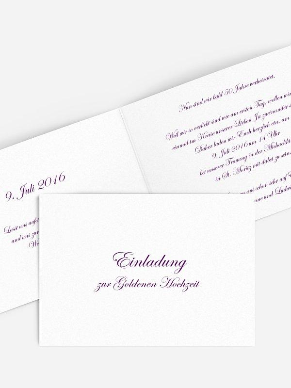 Einladung zur Goldenen Hochzeit Schriftlich