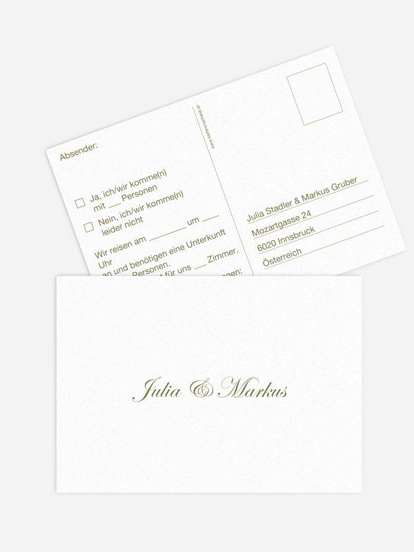 Antwortkarte Hochzeit Schriftlich