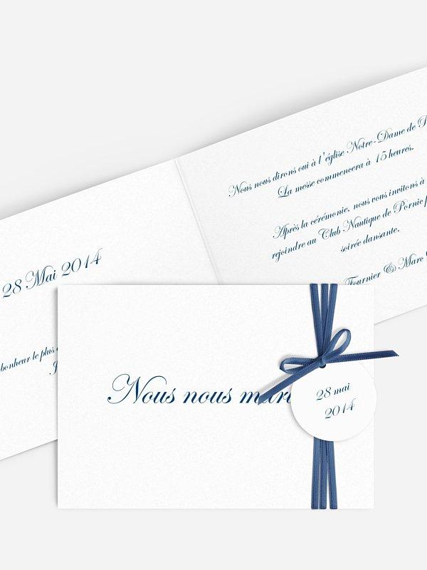 Faire-part mariage En toutes lettres