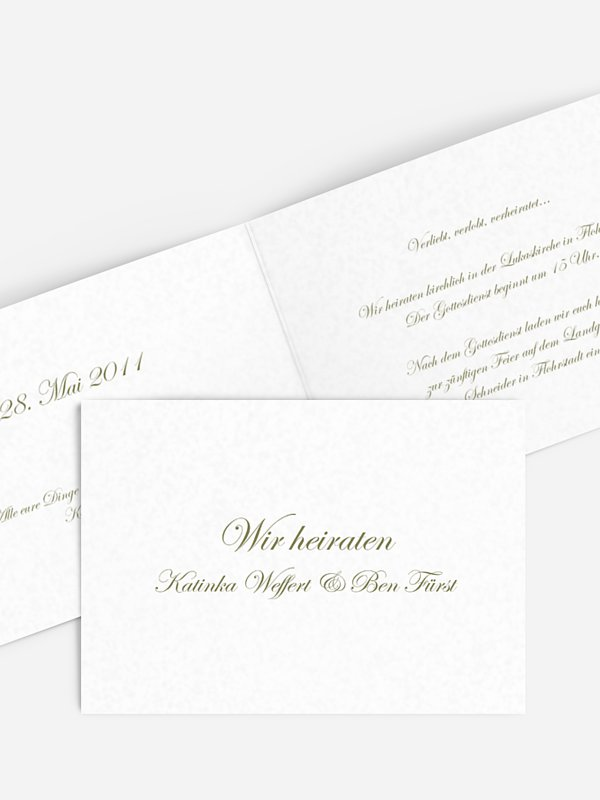 Hochzeitseinladung Schriftlich
