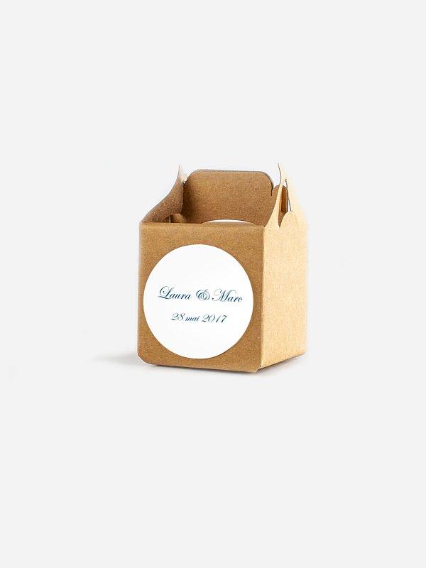 Étiquette cadeau mariage En toutes lettres
