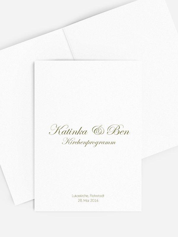 Kirchenheft Hochzeit Schriftlich