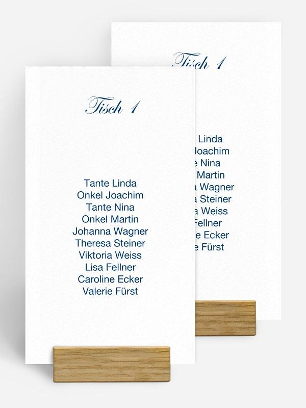 Gruppentischkarte Schriftlich