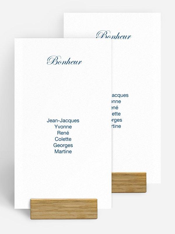 Nom de table mariage En toutes lettres