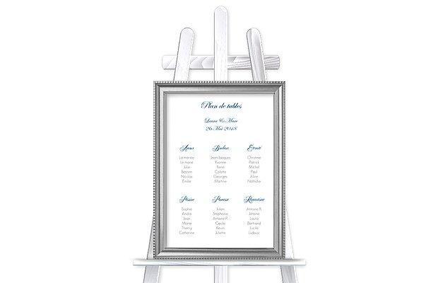 Poster plan de table mariage En toutes lettres