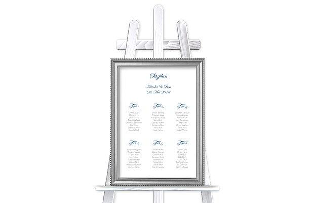 Sitzplan Plakat Schriftlich