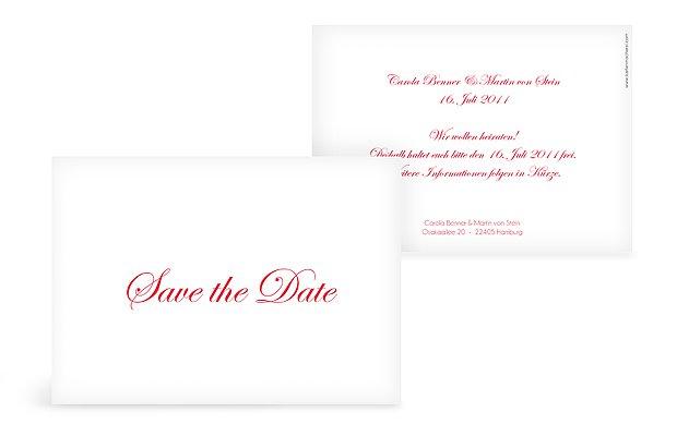 """Save-the-Date Karte """"Schriftlich"""""""