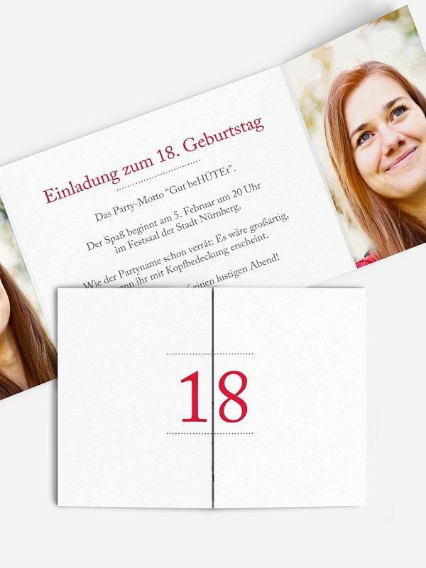 Einladung 18. Geburtstag Schreibklar