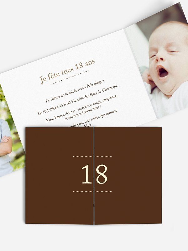 Carte Invitation Anniversaire 18 Ans