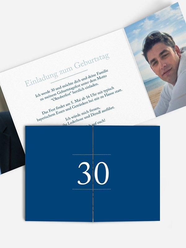 Einladung 30. Geburtstag Schreibklar