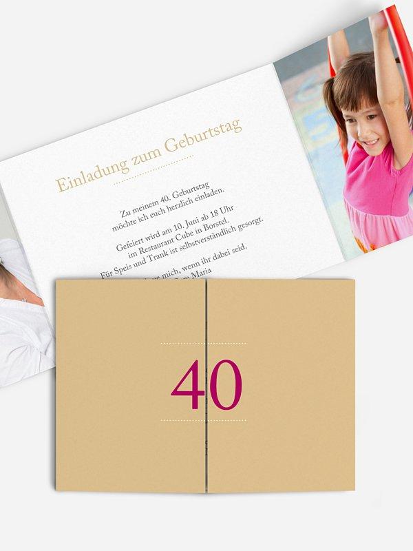 Einladung 40. Geburtstag Schreibklar
