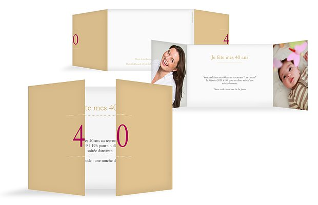 invitation anniversaire 40 Précision