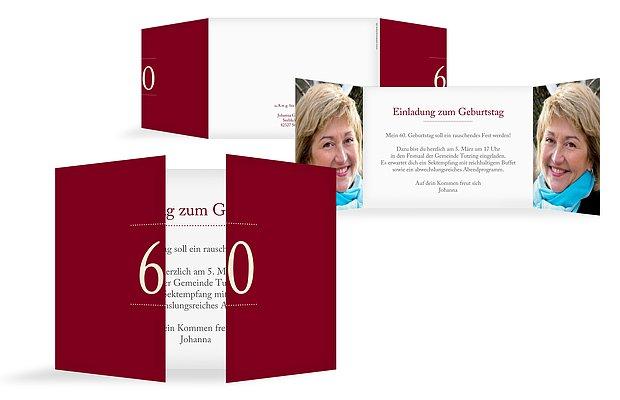 Einladung 60 Geburtstag Schreibklar