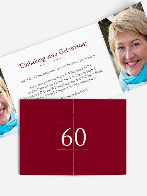 Einladung 60. Geburtstag Schreibklar