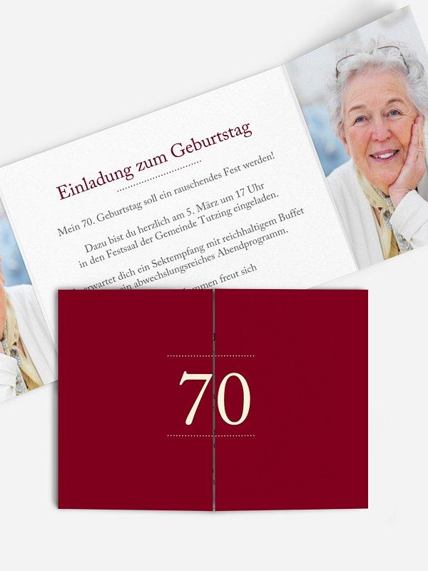 Einladung 70. Geburtstag Schreibklar