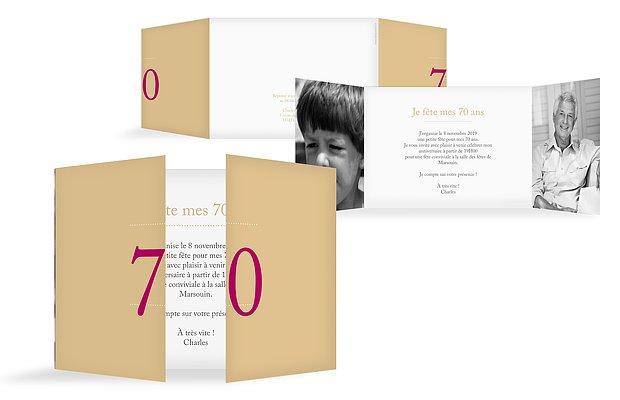 invitation anniversaire 70 Précision