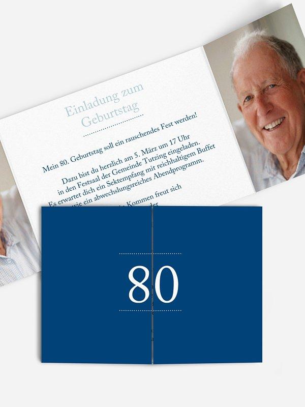 Einladung 80. Geburtstag Schreibklar