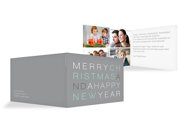 "Weihnachtskarte ""Merry XMAS"""