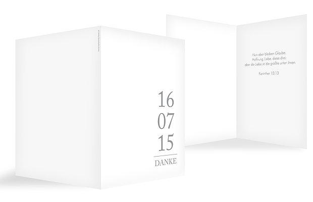 Blanko-Dankeskarte Hochzeit Unser Tag