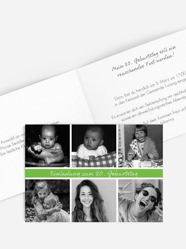 Einladung 30. Geburtstag Fotoreich
