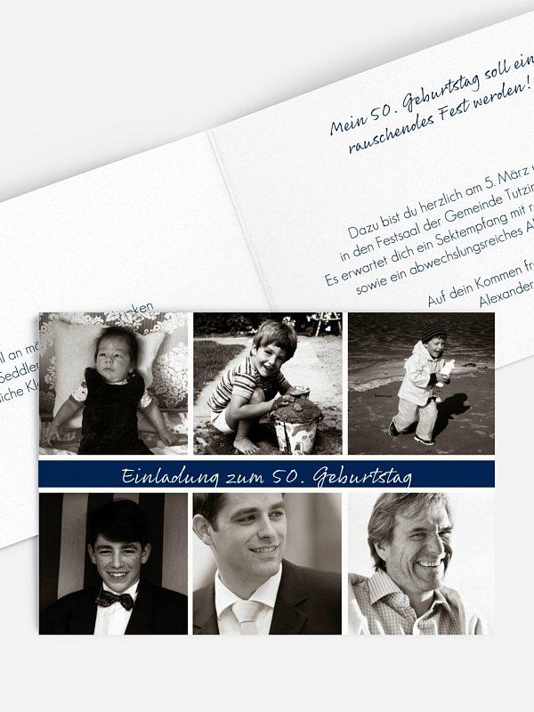 Einladung 50. Geburtstag Fotoreich