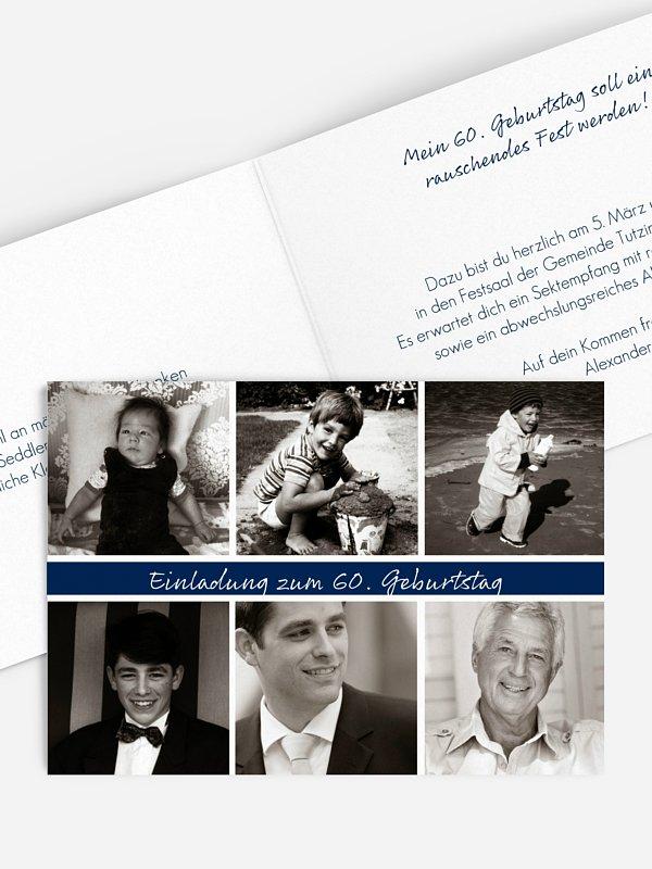 Einladung 60. Geburtstag Fotoreich